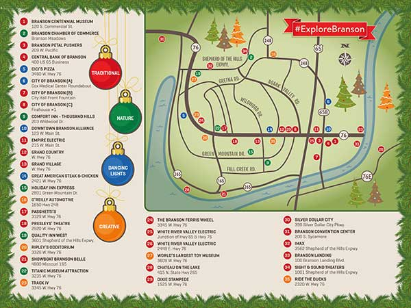 christmas tree tour of branson if you like christmas trees youll want to visit branson this holiday season from the bright lights about 5 million of